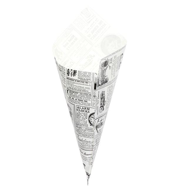 Cornet en Papier Ingraissable 340mm 400g (250 Unités)