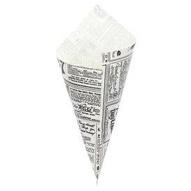Cornet en Papier Ingraissable 240mm 100g (250 Unités)