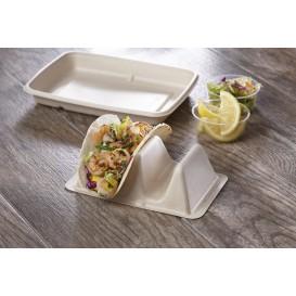 Support pour Tacos en Canne à Sucre 18x11x5cm (75 Utés)
