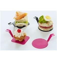 """Assiette Dégustation """"Gourmand""""  Noir Ø4,5x2cm (50 Utés)"""