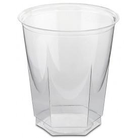 Gobelet Plastique Hexagonal PS Cristal 250ml (50 Utés)