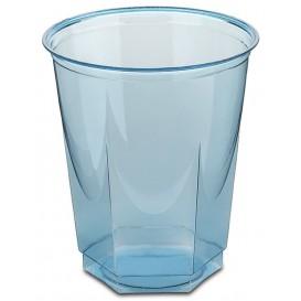 Gobelet Plastique Hexagonal Turquoise PS Cristal 250ml (10 Utés)