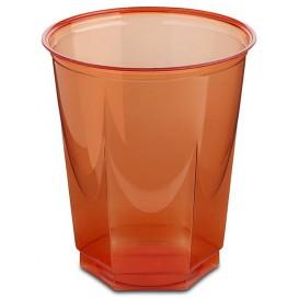 Gobelet Plastique Hexagonal Rouge PS Cristal 250ml (10 Utés)