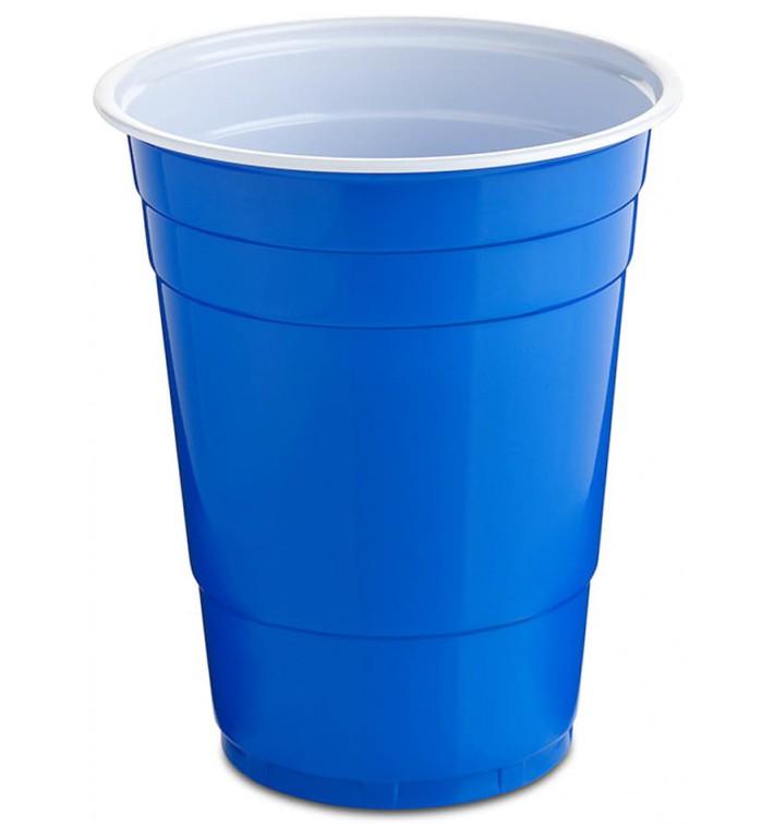 Gobelet Plastique Bleu Americain 550ml (25 Utés)