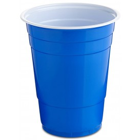 Gobelet Plastique Bleu Americain 550ml (400 Utés)