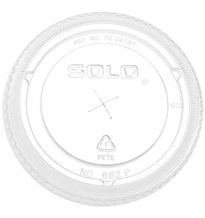 Couvercle Plat avec Croix PET Cristal Ø9,2cm (1000 Unités)