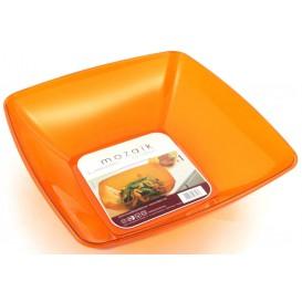 Bol PS Cristal Dur Orange 3500ml 28x28cm (1 Uté)