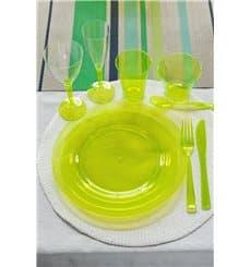 Assiette Plastique Extra Dur Verte 23cm (6 Unités)