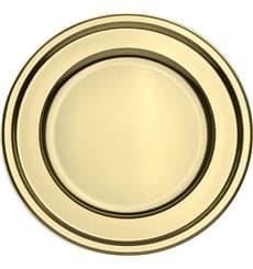 Dessous d'assiette Plastique Rond Doré 30 cm (50 Utés)