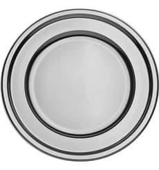 Dessous d'assiette Plastique Rond Argenté 30 cm (5 Utés)