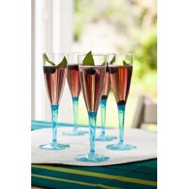 Flûte Champagne Plastique Turquoise 100ml (36 Unités)