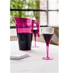 Verre à Vin Plastique Framboise 130ml (60 Unités)