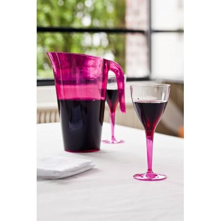 Verre à Vin Plastique Framboise 130ml (6 Utés)
