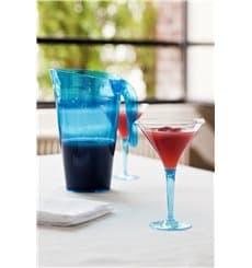 Verre à Cocktail Plastique Turquoise 100ml (48 Unités)