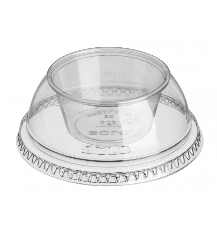 """Dôme avec Coupe PET Cristal """"Dress"""" Ø9,2cm (100 Utés)"""