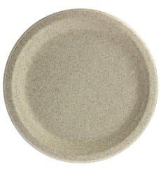 Assiette en Son de Blé Naturel Ø23cm (800 Utés)