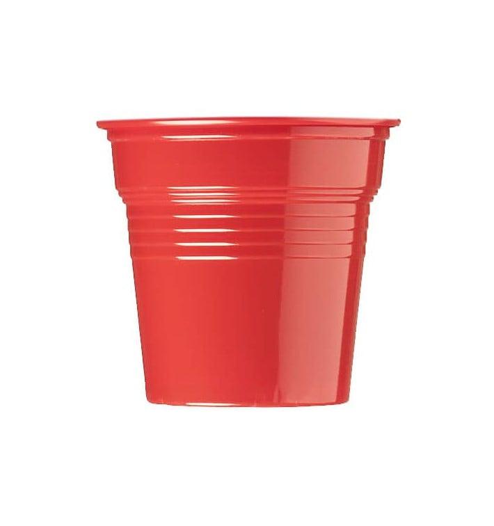 Gobelet Plastique PS Rouge 80ml Ø5,7cm (50 Utés)