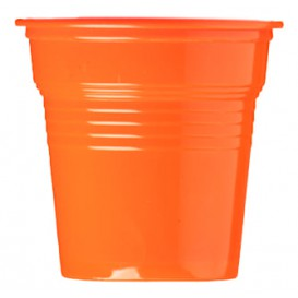 Gobelet Plastique PS Orange 80ml Ø5,7cm (50 Utés)