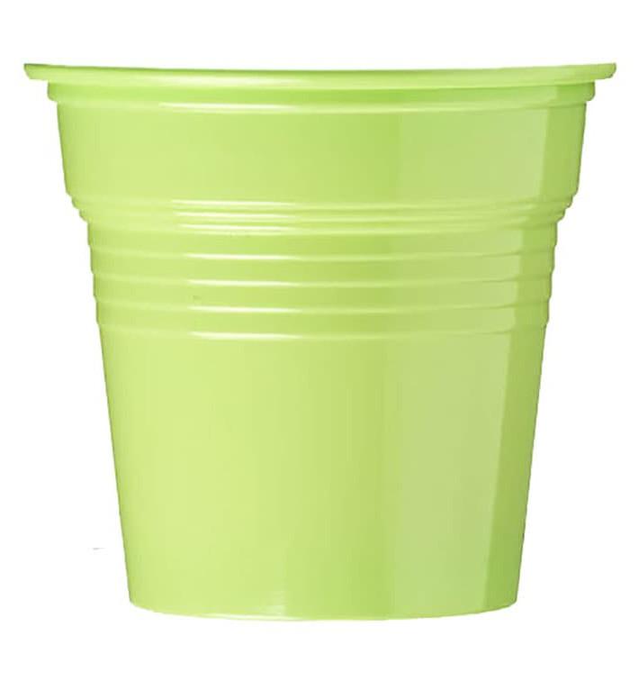 Gobelet Plastique PS Vert Citron 80ml Ø5,7cm (50 Utés)