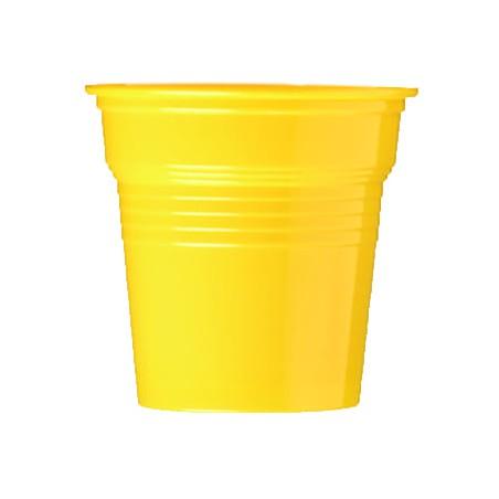 Gobelet Plastique PS Jaune 80ml Ø5,7cm (50 Utés)