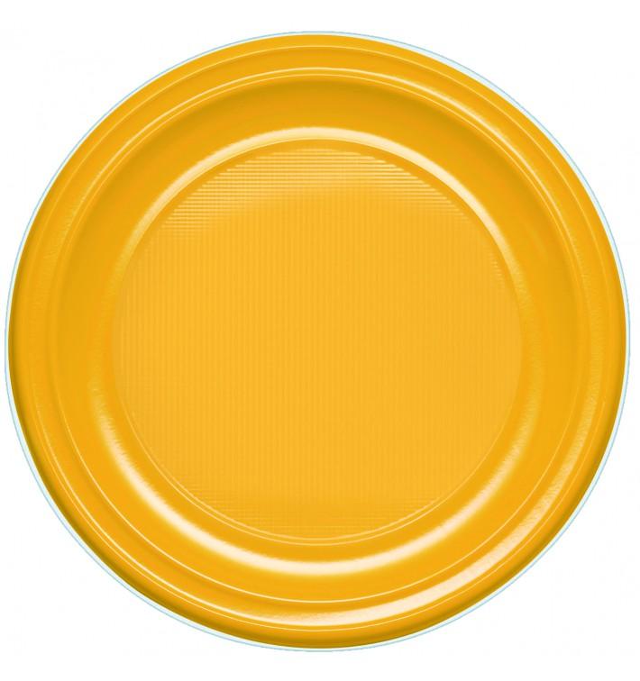 Assiette Plastique PS Plate Mangue 220mm (780 Unités)
