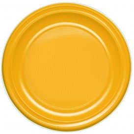 Assiette Plastique PS Creuse Mangue 220mm (30 Unités)