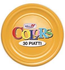 Assiette Plastique PS Creuse Mangue 220mm (600 Unités)