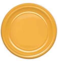 Assiette Plastique PS Plate Mangue 170mm (50 Unités)