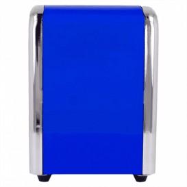 Distributeur à Serviettes Inoxydable Bleu 10,5x9,7x14cm (1 Uté)