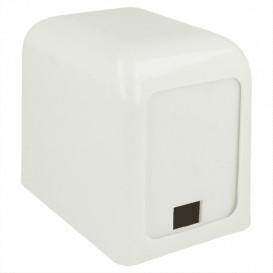 Distributeur à Serviettes Plastique Blanc 15x10x12,5cm (1 Unité)