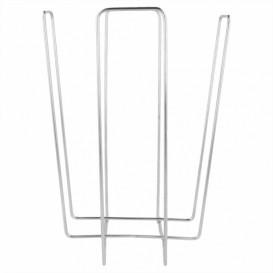 Porte-serviettes en Fil Metallique18x18x19,4cm (12 Utés)
