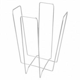 Porte-serviettes en Fil Metallique 22x22x18cm (12 Utés)