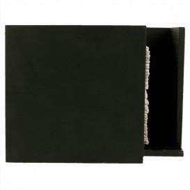 Porte-serviettes Cocktail Bambou Noir 13,5x13,5x10cm (1 Uté)