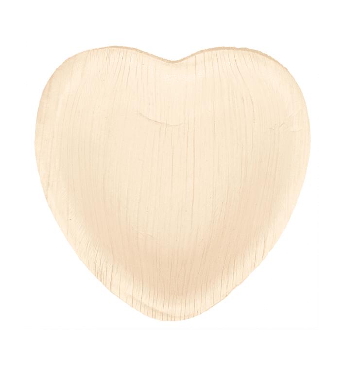 Assiette Coeur Feuilles de Palmier 10x10x1,5cm (25 Unités)