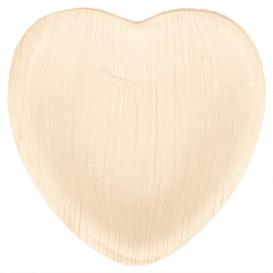 Assiette Coeur Feuilles de Palmier 10x10x1,5cm (200 Unités)