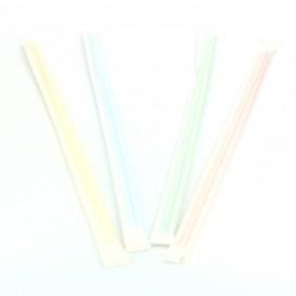 Pailles Flexibles Emballées Individuellement en Sachet Ø5mm 23cm (1000 Utés)