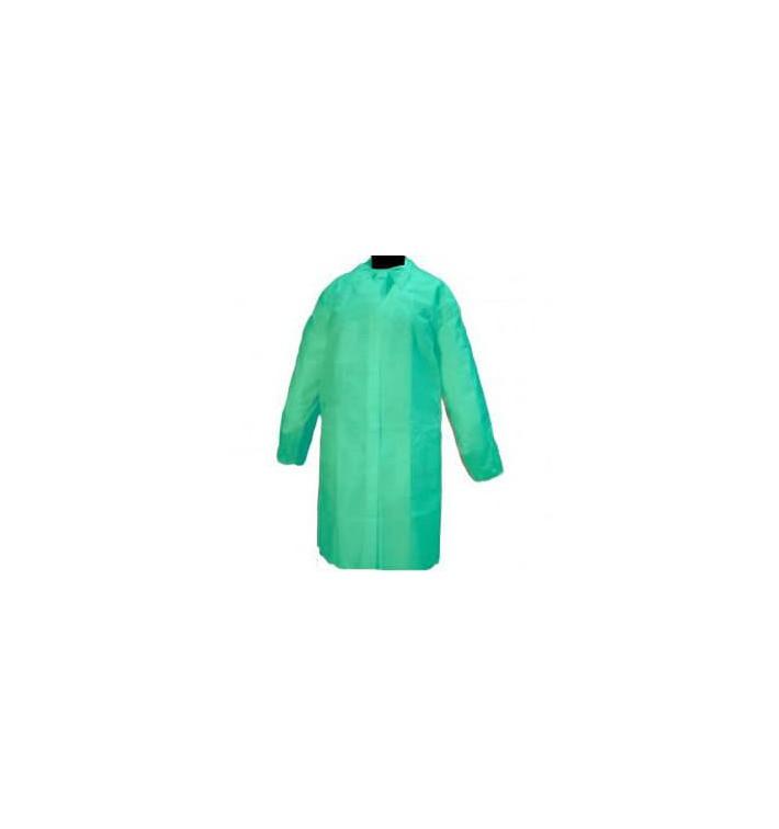 Blouse Visite PP non Tissé Velcro et Sans Poches Vert XL (10 Utés)
