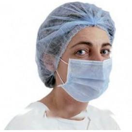 Masque Chirurgical Bleu 2 plis avec élastiques (50 Utés)