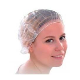 Bonnet polyéthylène de douche avec Elastique (100 Utés)