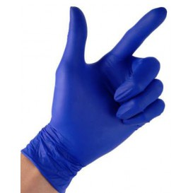 Gants en Nitrile sans Poudre Bleu Taille S 4,5G (100 Utés)