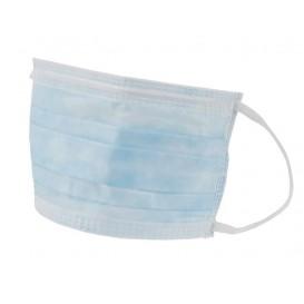 Masque Chirurgical Bleu de 3 plis avec élastiques ( 50 Utés)