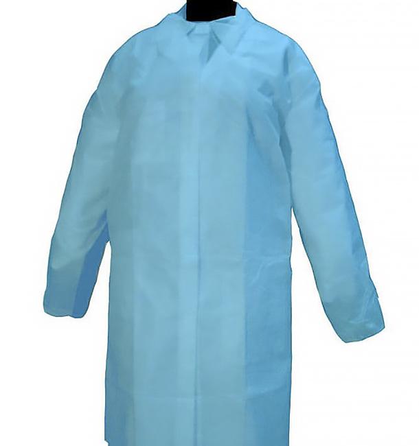 Blouse Cadet PP 35gr.Velcro et Sans Poches Bleu (1 Uté)