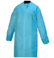 Blouse Cadet PP 35gr.Velcro et Sans Poches Bleu (100 Utés)