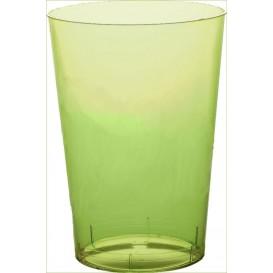 Verre Plastique Moon Vert citron Transp. PS 350ml (400 Unités)