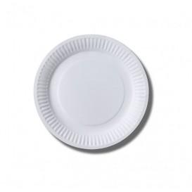 Assiette en Papier Biocoated Blanc Ø18cm (100 Unités)