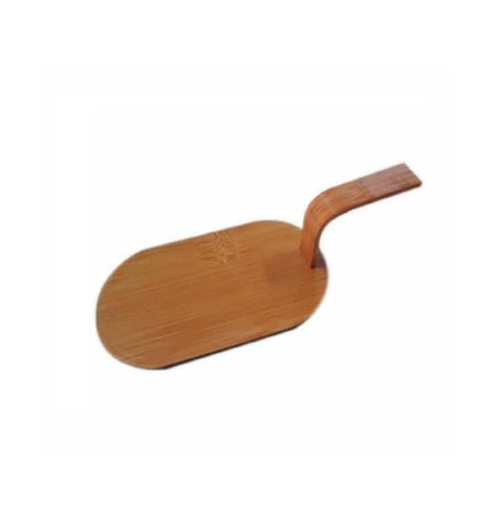 Mini Pelle Bambou Naturel PourTapas 8x5 cm (400 Utés)