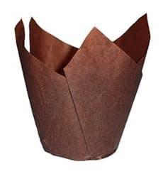 Caissette Muffin Tulipe Ø50x50/80 mm Marron (125 Utés)