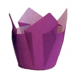Caissette Muffin Tulipe Ingraissable 72 mm Violette (135 Utés)