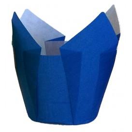 Caissette Muffin Tulipe Ø50x50/80 mm Bleu (125 Utés)