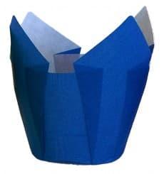 Caissette Muffin Tulipe Ø50x42/72 mm Bleue (135 Utés)